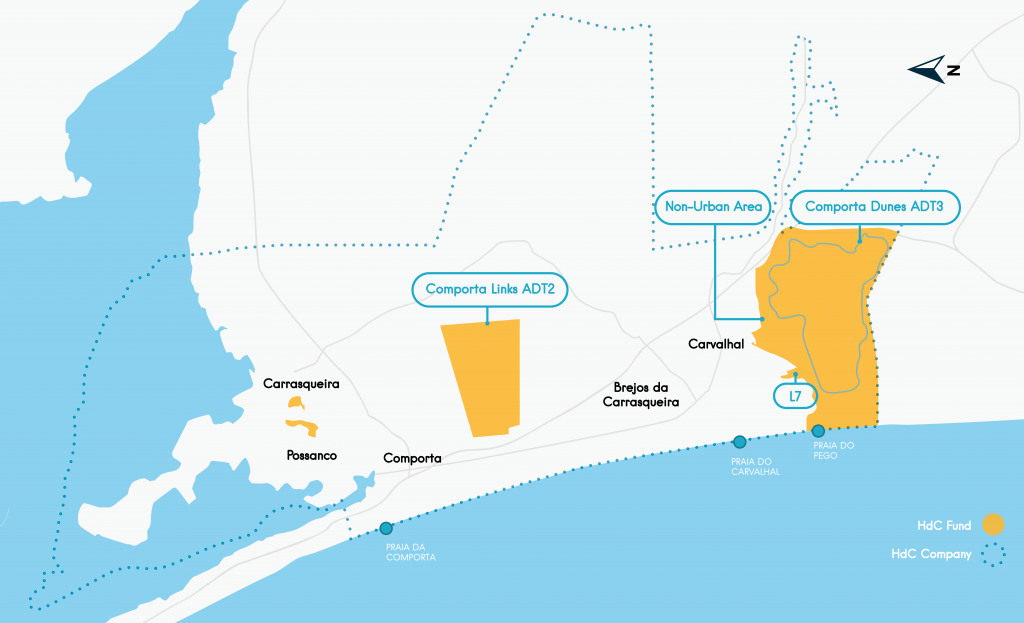 Mapa Comporta Links e Comporta Dunes